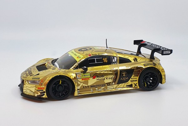 Mini-z Karosserie |GL-Racing | GBL005-R8LMS| R8 LMS-04 gold Electroplating