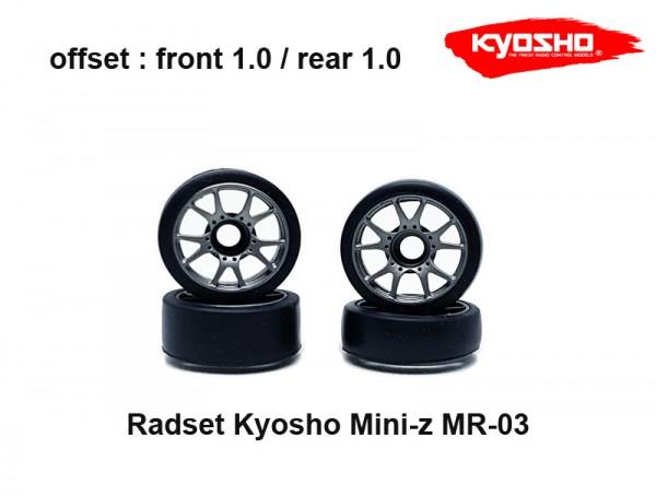 Radset (4) Mini-z MR-03 1.0 grau