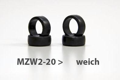 Reifen Mini-z Slick, 8.5mm (4) MZW02-20