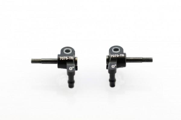FRONT KNUCKLE(0°) Alu W/ PIN black XP-M03-FSK-BK