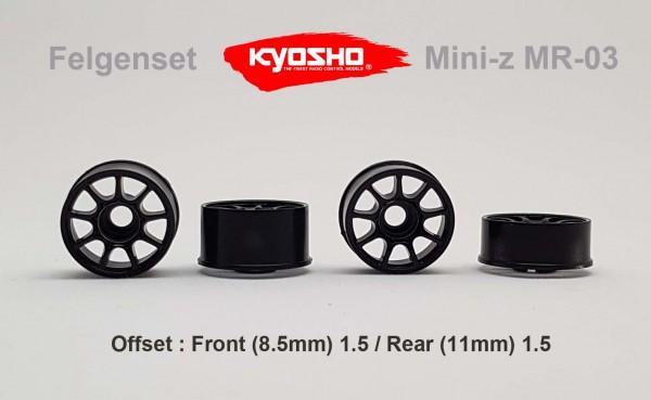 Felgenset Mini-z MR-03 1.5/1.5 black 9 Spoke