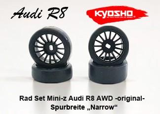 Rad Set Mini-z Audi R8 AWD narrow original