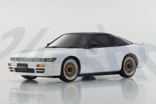 Karosserie Kyosho / MA020 / AWD /Mini-Z Nissan Sileighty WHITE&BLACK, K.MZP434WB / LED