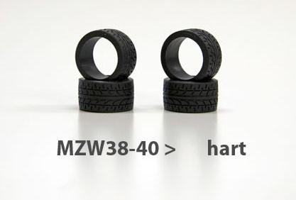 Reifen Mini-z Radial, 11mm (4) mzw38-40