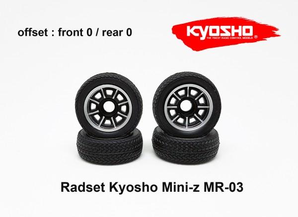Radset Mini-z MR-03 Felge Reifen kyosho