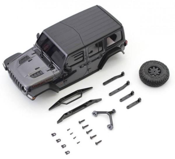 MINI-Z Crawler   K.MXB01GM   Kyosho   Karossserie Jeep Wrangler Rubicon Mini-Z 4X4 MX01 Grey Mini-Z 4X4 MX01
