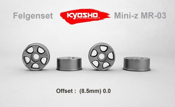 Felgenset Mini-z MR-03 0/0 silver (4)