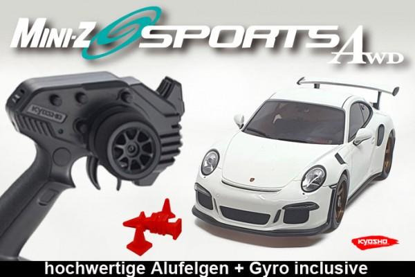 MINI-Z AWD MA020 Sports 4WD Porsche 911 GT3 DREAM II white (KT531P) Readyset