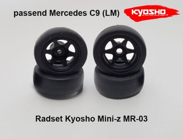 Radset Mini-z MR-03 Felge Reifen Mercedes C9 kyosho
