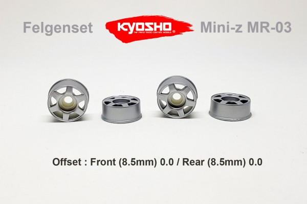 Felgenset Mini-z MR-03 / Kyosho / silber | x24FS07