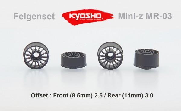 Felgenset Mini-z MR-03 15 Spoke silver 2.5/3.0