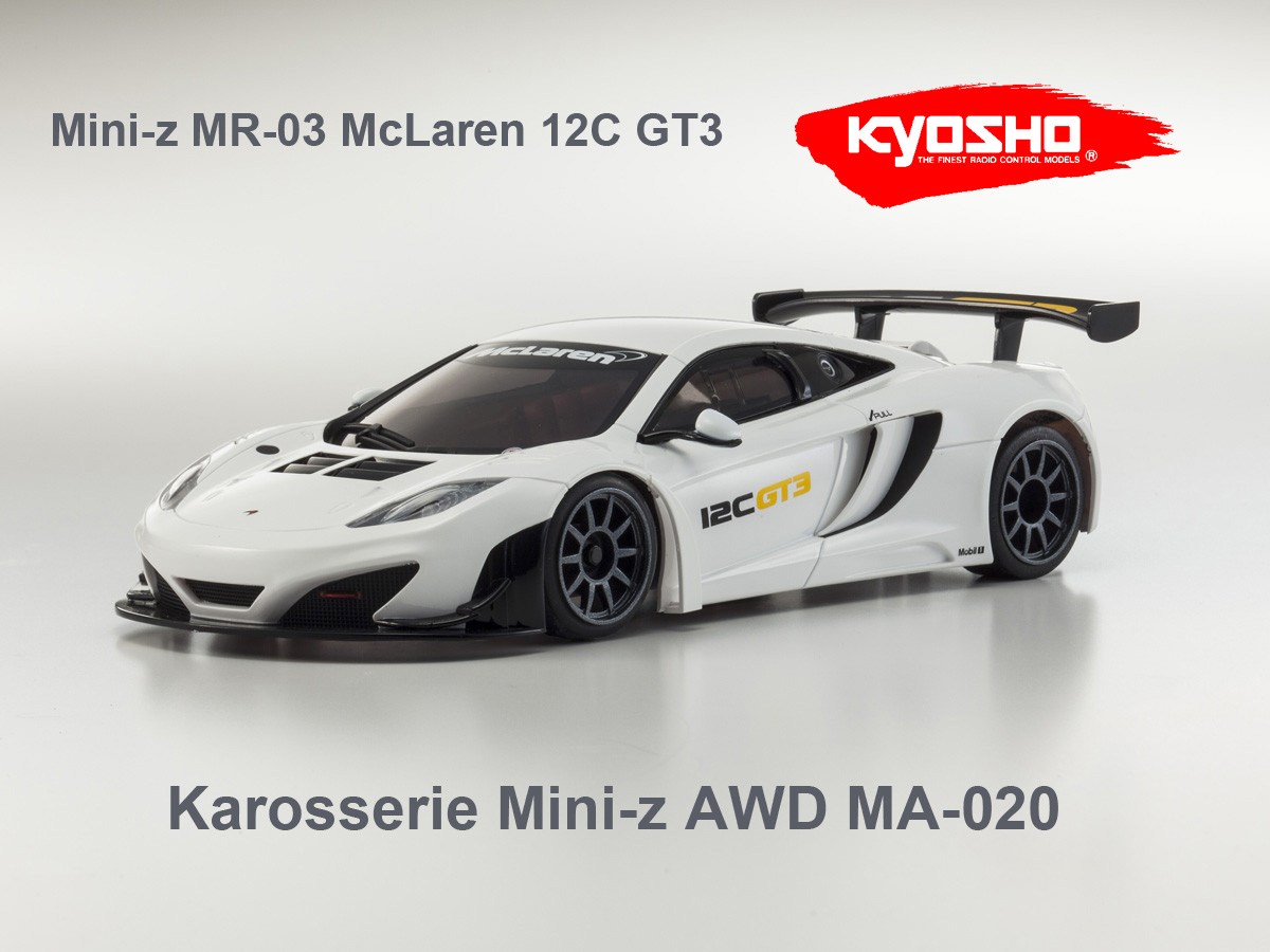 karosserie mini z awd mclaren 12c gt3 x24 shop. Black Bedroom Furniture Sets. Home Design Ideas
