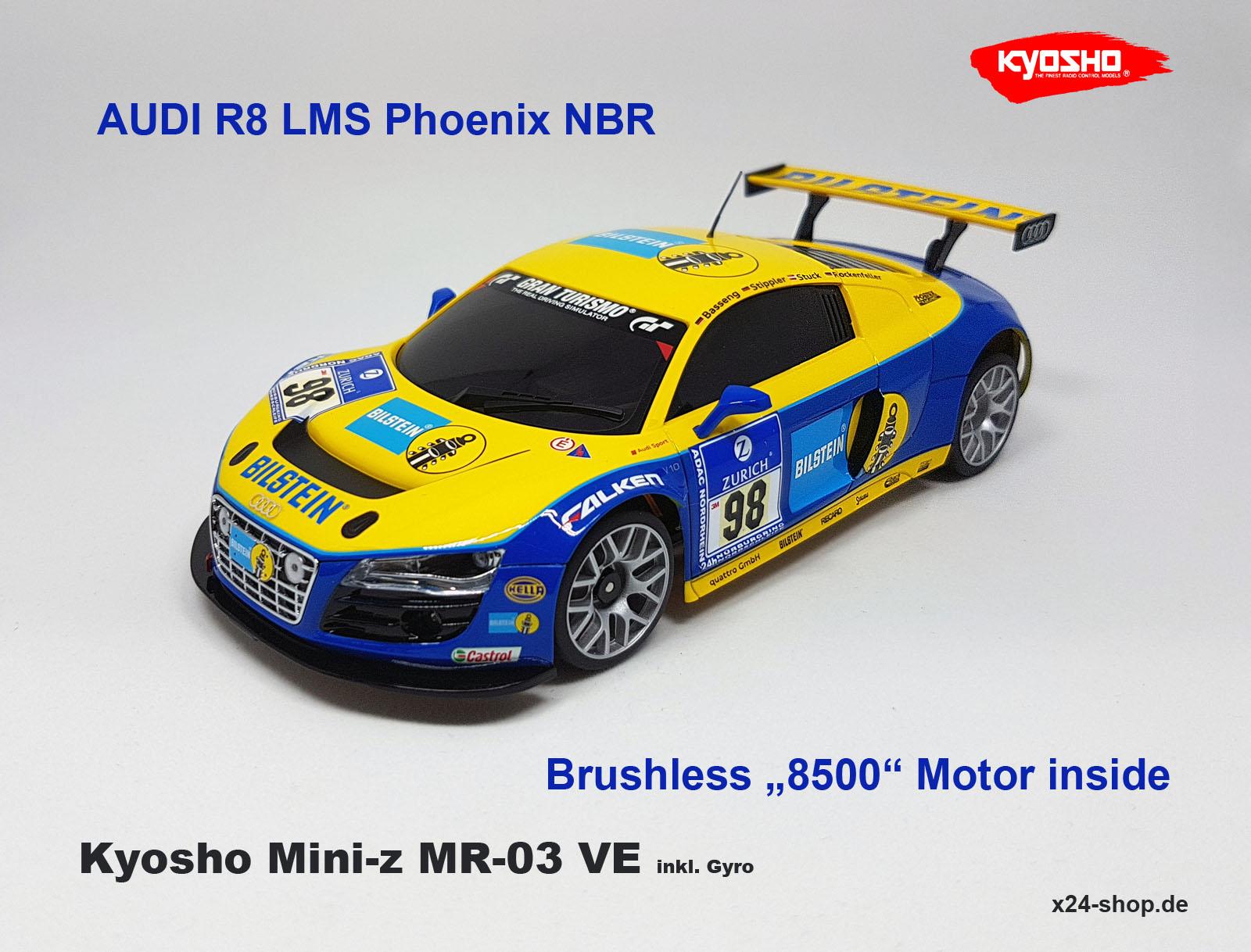 Mini z MR 03VE Audi R8 Kyosho Mini z Brushless audir GPH