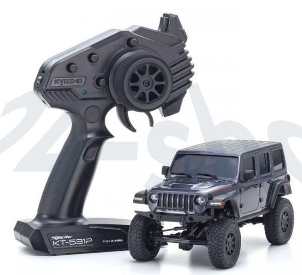 kyosho |Mini-Z Crawler | MX-01 Jeep Wrangler Rubicon Granite Metallic| K.32521GM