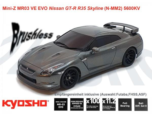 kyosho  Mini-Z MR03 EVO Nissan GT-R R35 Skyline dark metal grey  K.32791