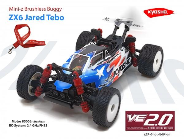 Mini-z Buggy LAZER ZX6 Jared Tebo MB010-VE 2.0 FHSS