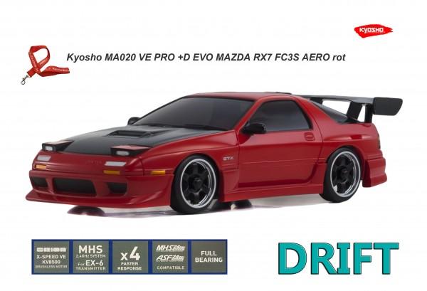 Kyosho Mini-Z AWD | MA-020VE PRO+D EVO | K.32173CR |  MAZDA SAVANNA RX-7 FC3S Aero red