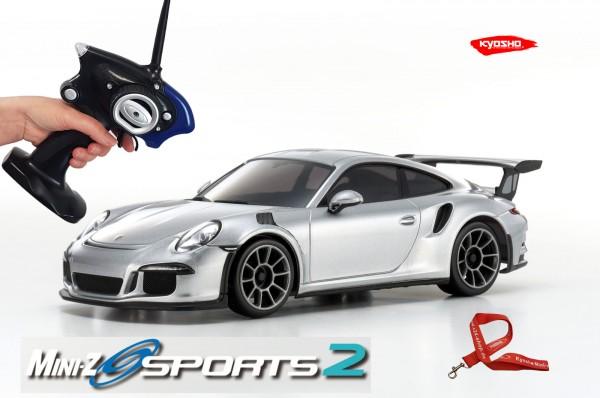Mini-z / Kyosho MR-03 Sports 2 / PORSCHE 911 GT3 RS silber / K.32231S / RWD