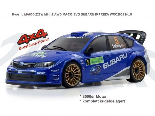 Kyosho | Mini-Z MA030 EVO MA030 SUBARU IMPREZA WRC2008No.5| K.32180B | MA030-429WR