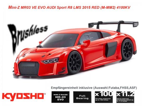 Kyosho |Mini-Z MR03 EVO AUDI Sport R8 LMS 2015 RED | 4100 KV | K.32794