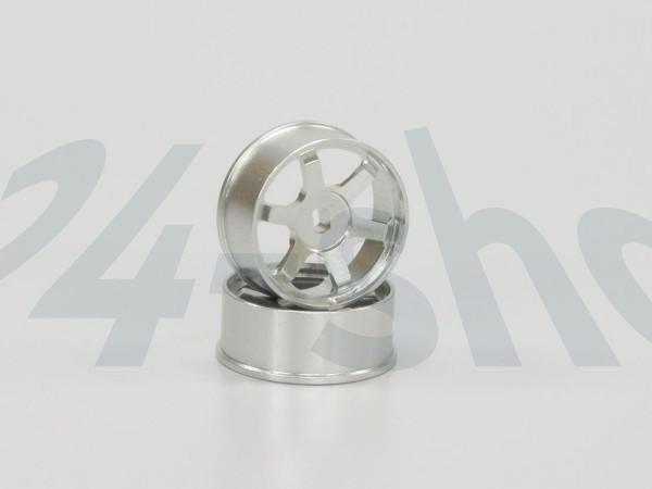 Mini-z AWD Alu-Felge 6 Speichen, Front silber (2) R246-1412