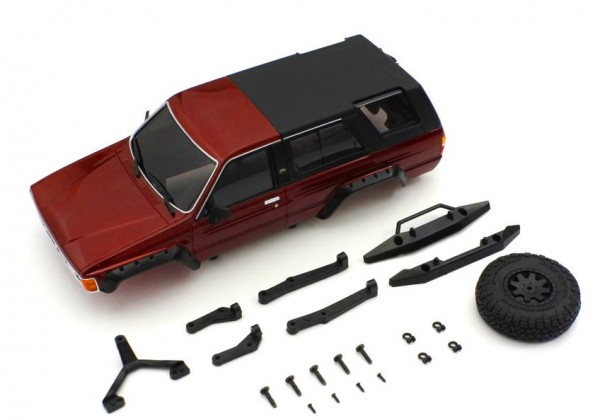 MINI-Z Crawler | K.MXB02MR | Kyosho | Karossserie Toyota 4Runner Metallic Red Mini-Z 4X4 MX01