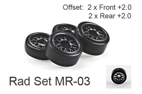 Radset (4) Mini-z MR-03 2.0+ , schwarz