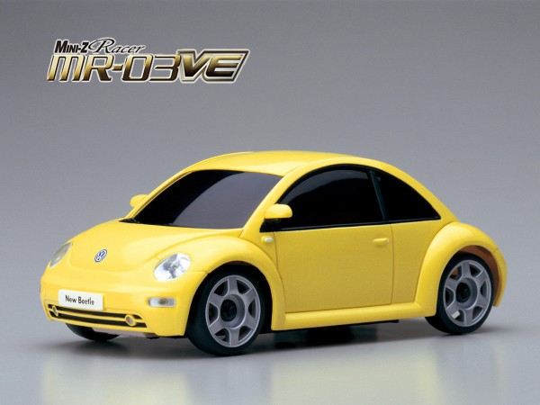 Mini-Z MR03VE / VW New Beetle gelb / Kyosho K.32767Y