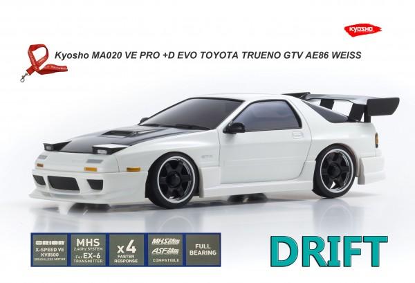 Kyosho Mini-Z AWD | MA-020VE PRO+D EVO | K.32173CW |  MAZDA SAVANNA RX-7 FC3S Aero White