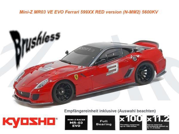 kyosho | Mini-Z MR03 EVO Ferrari 599xx | K.32794
