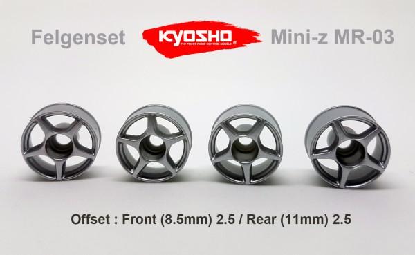 FELGENSET MINI-Z MR-03 2.5/2.5