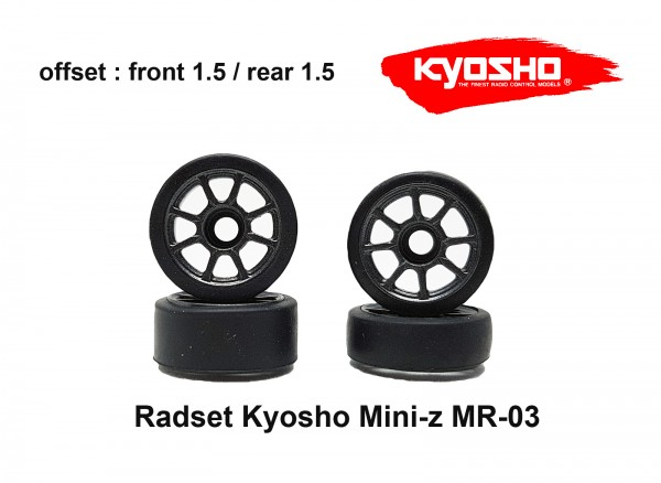 Radset (4) Mini-z MR-03 1.5 grau