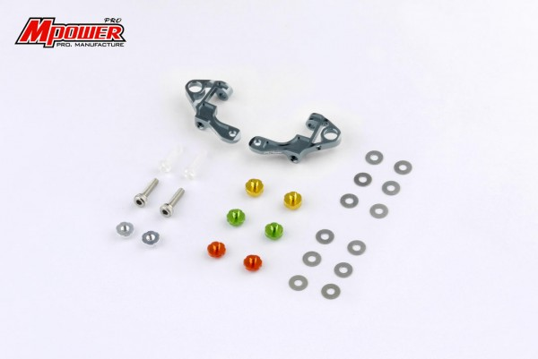 Alu-alloy Front Upper Arm Set silver mpower