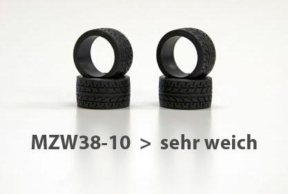 Reifen Mini-z Radial, 11mm (4) mzw38-10