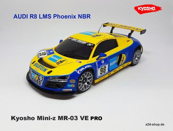 Kyosho Mini-Z MR-03VE PRO Audi R8 LMS Phoenix Racing MM2 / K.32782B-419BT