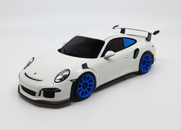 Mini-z MR-03VE BCS Porsche 911 GT3 RS white-blue