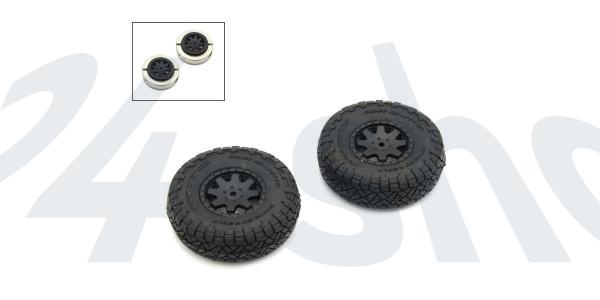 Verklebte Reifen (2) 4Runner Mini-Z 4X4 MX01 - Heavy Weight