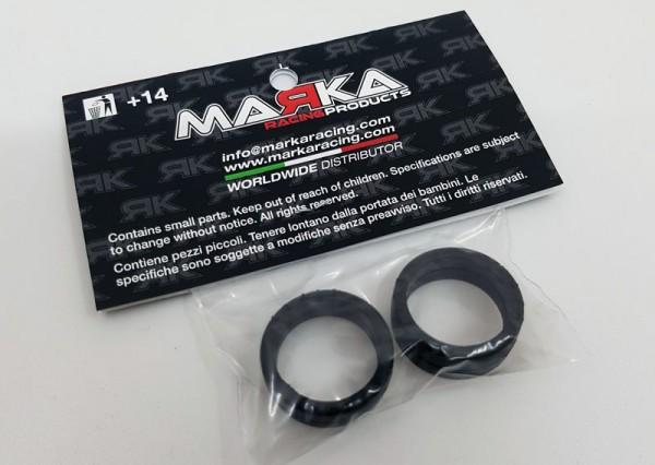 Marka V5 Mini-Z RCP Rubber Front Tire 15° (1 Pair) (MZR-V5F15)