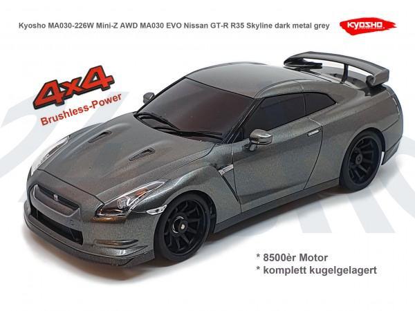 Kyosho | Mini-Z MA030 EVO MA030 Nissan GT-R R35 Skyline dark metal grey | K.32180B | MA030-417GR