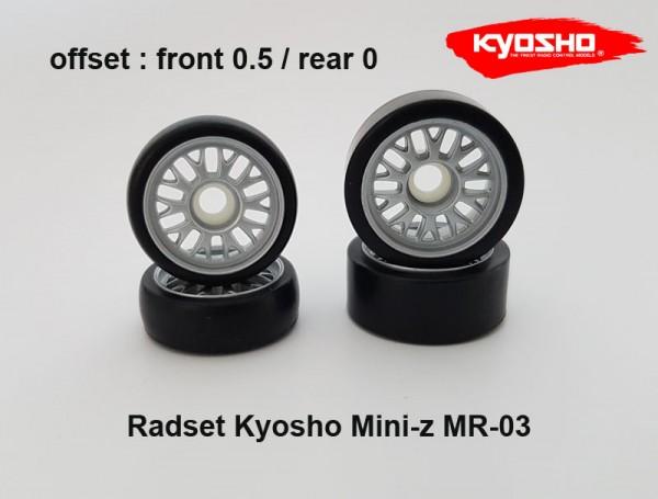 Radset (4) Mini-z MR-03 05.0 silber