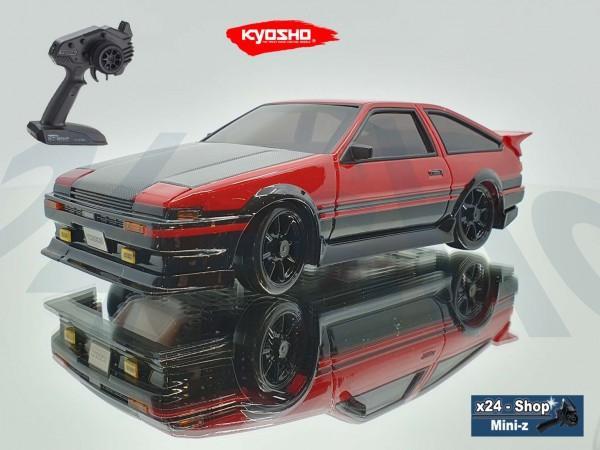 Mini-Z AWD Toyota Sprinter Trueno AE86 Aero Kit Carbon Black/Red (MA-020/KT531P) | 21s410bkcr