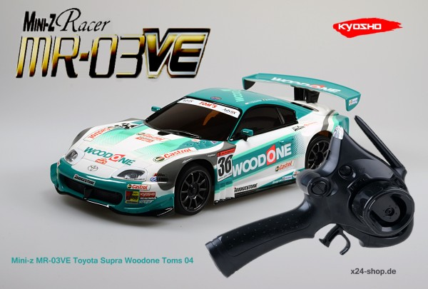 Mini-z MR-03VE Toyota Supra Woodone Toms 04 inkl. KT-18