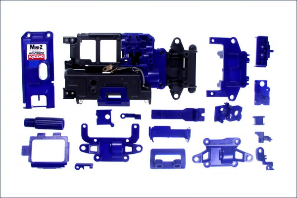 Color Chassis Set (Grau / Blau) AWD MA-010   mdf003GB