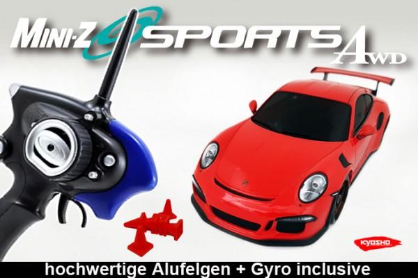 Mini-z  | Allrad Kyosho | Porsche 911 GT3 / Gyro / MA020 Sports