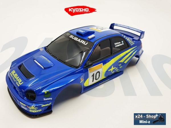 Ersatz Karosserie Mini-Z SUBARU IMPREZA WRC 2002 No.10 MZP448WRx24