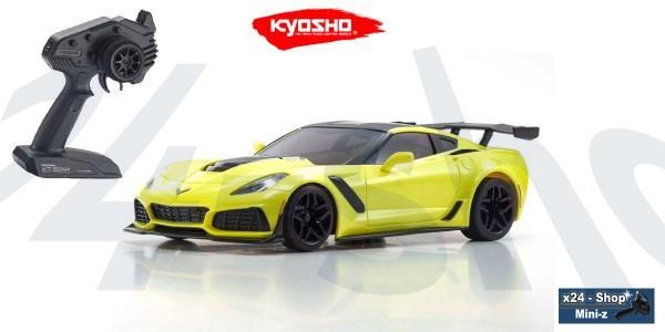 Mini-z RWD Chevrolet Corvette ZR1 Racing Yellow inkl. LED (W-MM/KT531P) | 32334BL