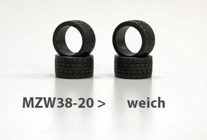 Reifen Mini-z Radial, 11mm (4) mzw38-20