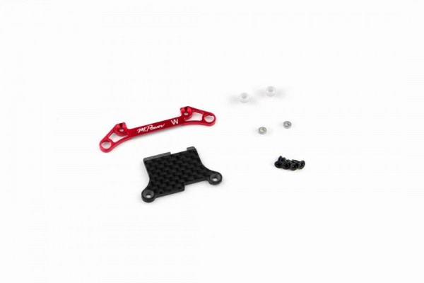 Front Lower Arm Set Ver.2 (Wide/Red) mpower MAP005V2WR
