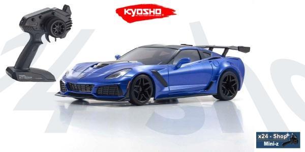 Mini-z RWD Chevrolet Corvette ZR1 Lake Blue inkl. LED (W-MM/KT531P) | 32334BL