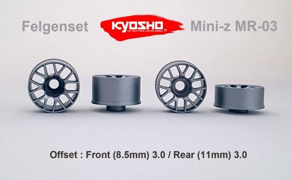 Felgenset Mini-z MR-03 3.0/3.0 silber